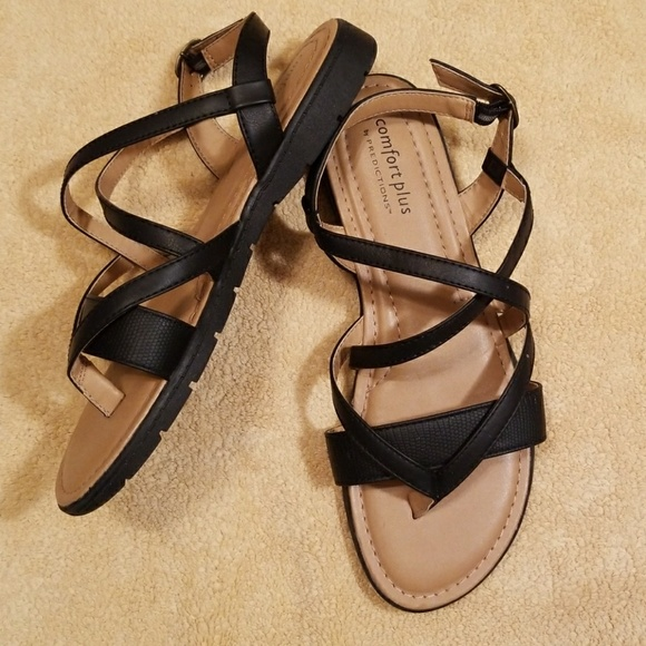 941ab2b29332f Comfort Plus by Predictions Black Sandals in 11. M_5aa878ebf9e501af0212298c